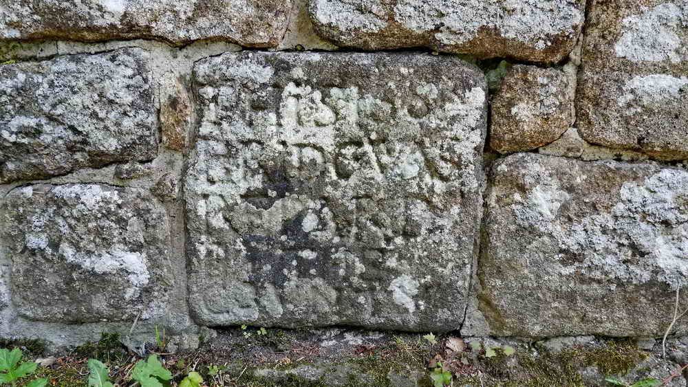 Inscribed stone on Drakeford Bridge