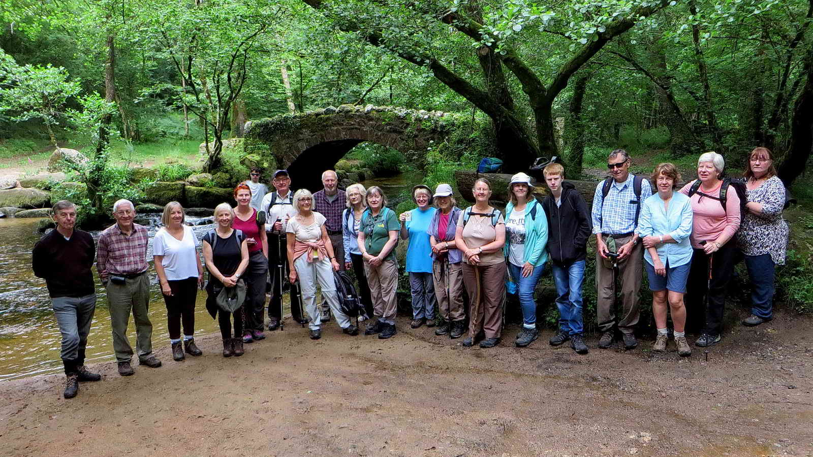 DPA Short Walks group at Hisley Bridge