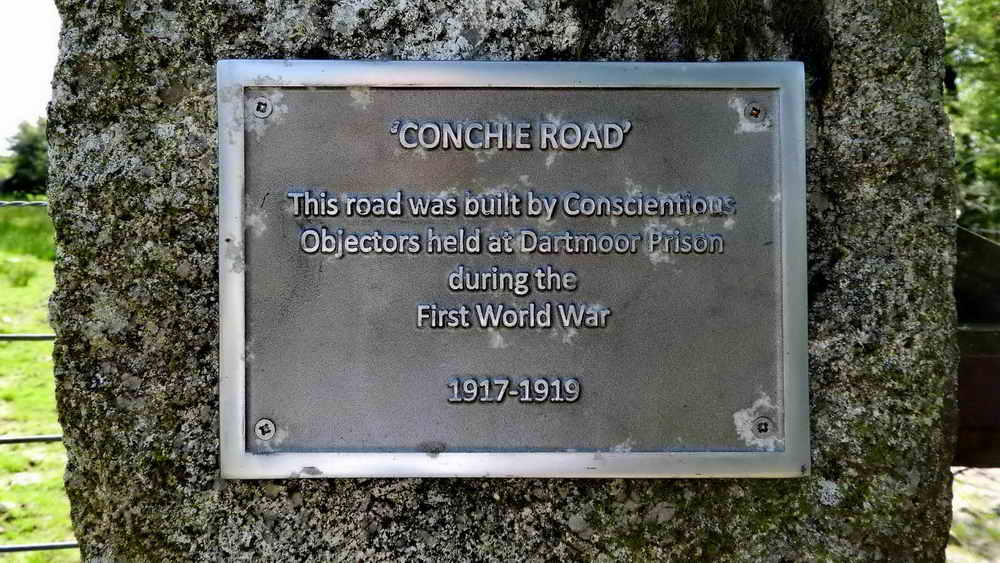 Conchies' Road plaque