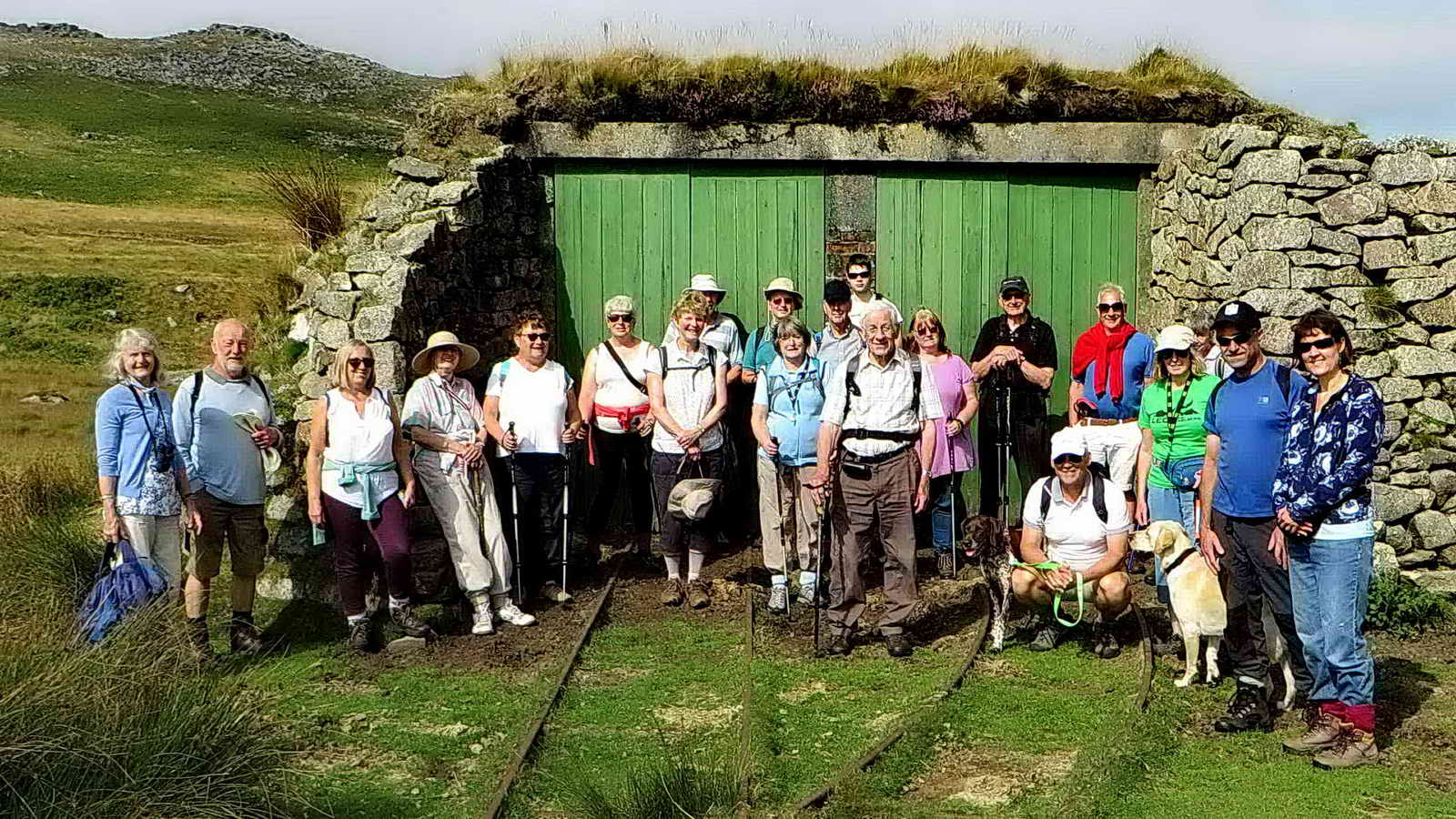 The walkers at the Target Railway engine shed
