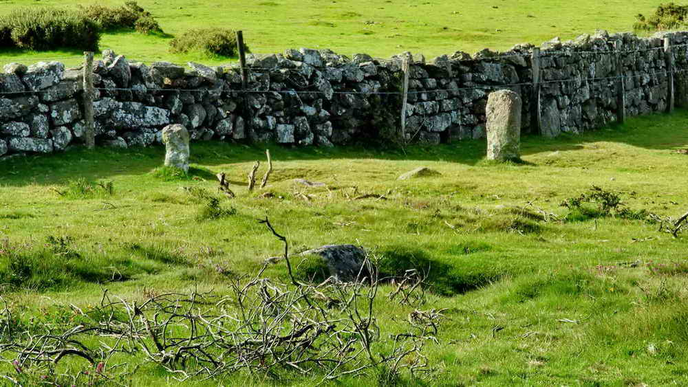 Old (small) and newer Ashburton / Buckland parish boundary stones