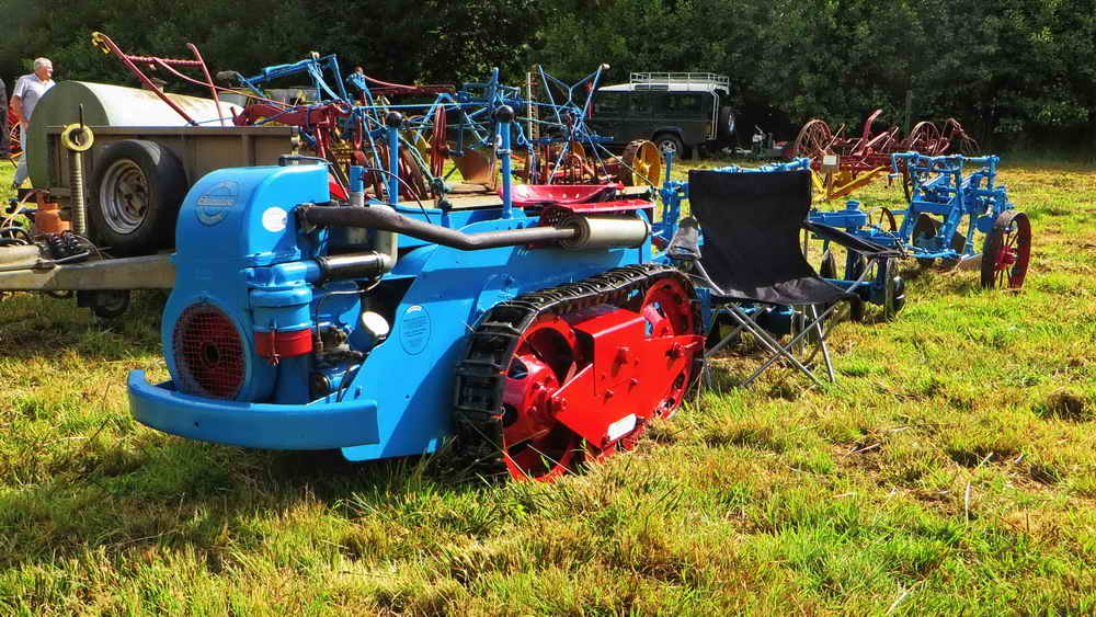 The MG Ransomes Crawler tractor, with disc harrows and plough
