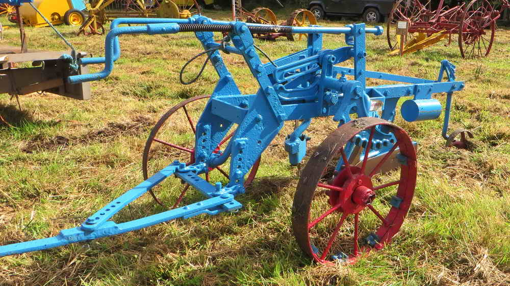 The plough - I was allowed to scuffle, tine harrow, chain harrow, roll with the granite roller, use the trailer - but never plough!