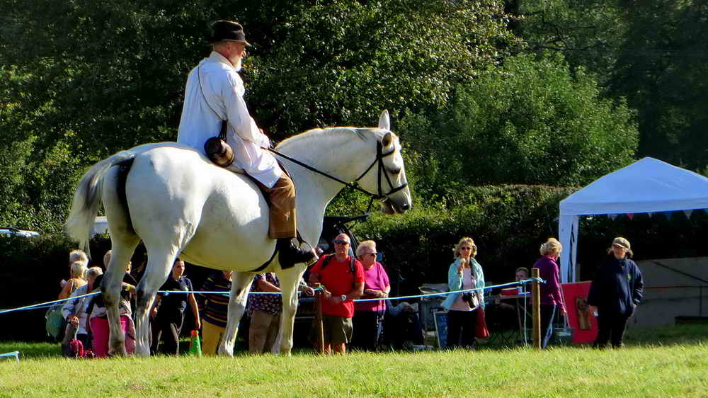 Uncle Tom Cobley (aka Tony Deeble) on Lilli, owned by Mrs Lynne Moyse