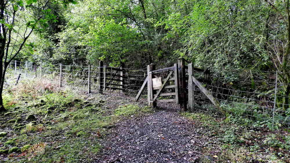 Two gates providing access up to the old railway