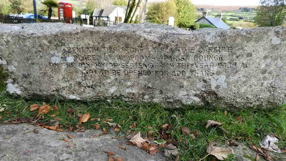 Inscribed stone on the village green