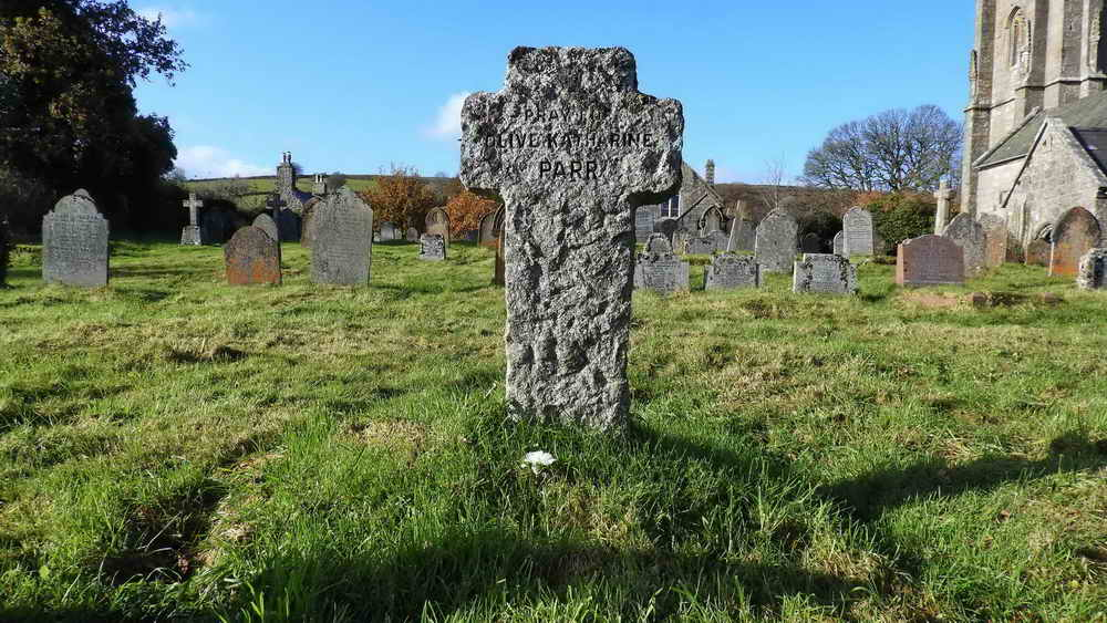 The cross on the grave of the author, Beatrice Chase, real name Olive Katharine Parr