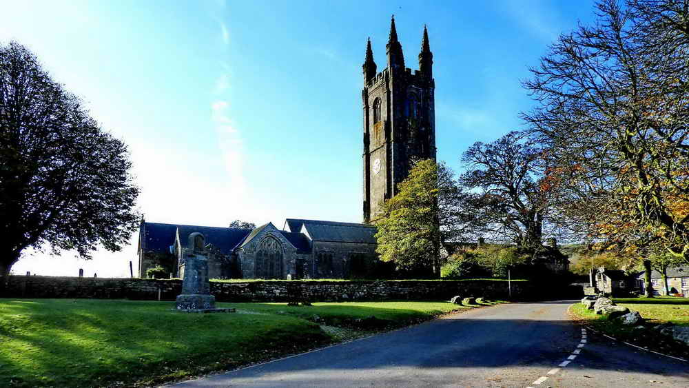 """Church of St. Pancras, Widecombe, sometimes called """"The Cathedral of the Moor"""""""