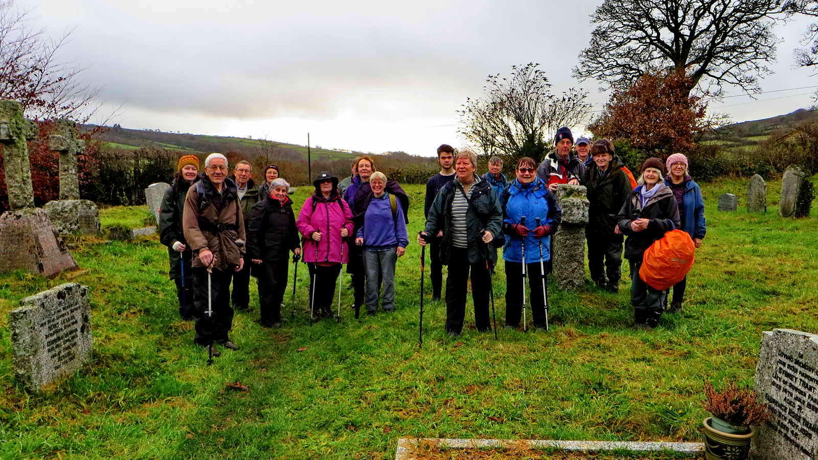 Some of the group of 34 made it as far as the churchyard and the church