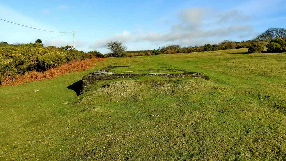 "Base of WW"" hut, part of Dousland searchlight battery"