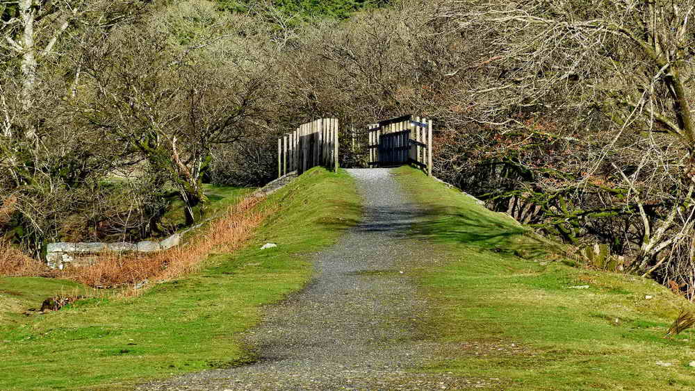 Cycle track bridge over the Lowery Cross / Burrator Discovery Centre road