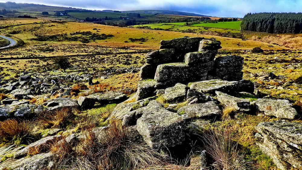 Parliament Rock and the court cryer's seat at Crockern Tor