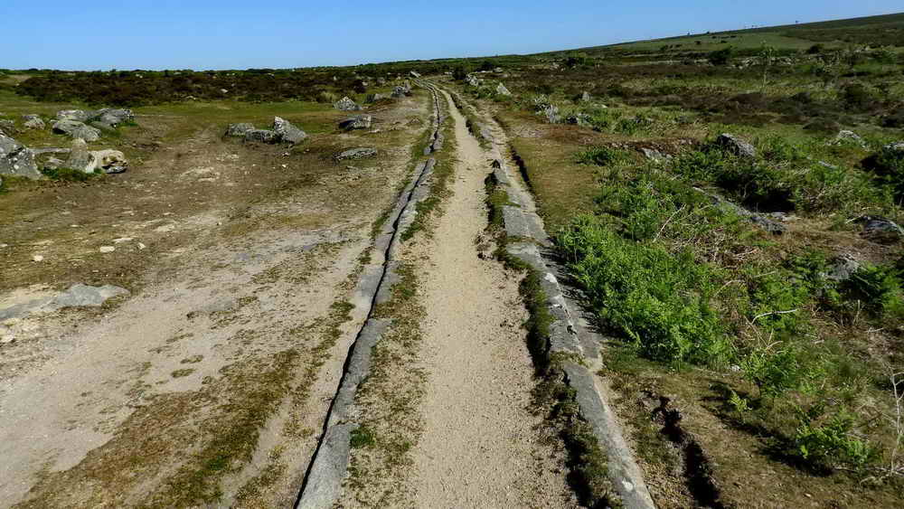 A length of the Templer granite tramway