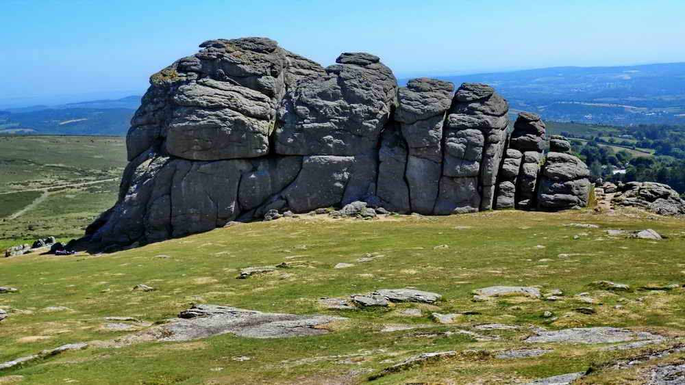 Hey Tor seen from the West, the Victorian steps are located on the right edge of the rock as seen in this photograph